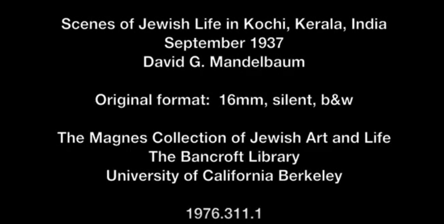 A Footage of Jewish Life in Cochin in 1937