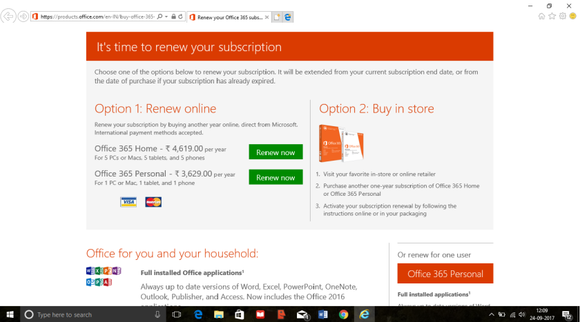 screen shot office 365
